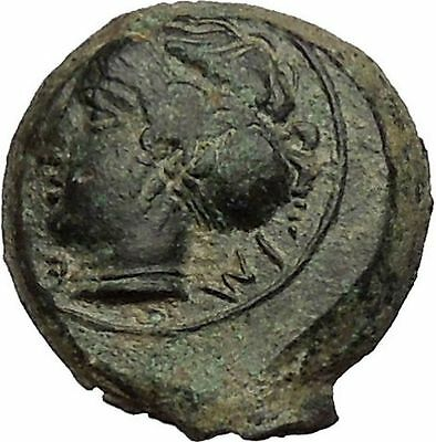 HIMERA in SICILY 415BC NYMPH & Success Wreath Genuine Ancient Greek Coin i52383