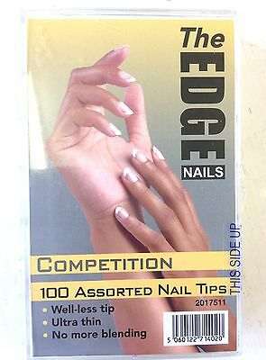 THE EDGE COMPETITION NATUREL PUITS-MOINS ONGLES ARTIFICIELS 100x