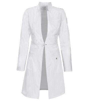 "Scrubs Cherokee Luxe Womens 32"" Lab Coat 1404 WHTV White  FREE SHIPPING!"