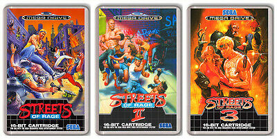 Streets Of Rage Trilogy Sega Mega Drive 3 Magnets Imanes Nevera