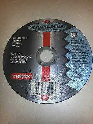 "Metabo Slicer Plus 55.998 Cutoff Cutting Wheels 6"" x .045"" x 7/8"" - 25 pack"