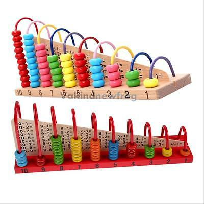 Wooden Number Maths Counting Abacus Bead Kids Educational Calculating Toy Gift