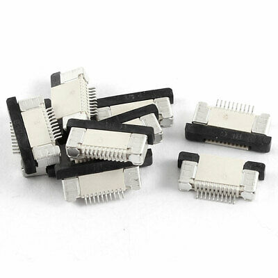 10Pcs Bottom Port 10Pin 0.5mm Pitch FFC FPC Ribbon Sockets Connector