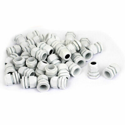 PG13.5 5-11mm Waterproof Cable Glands Wire Lead Connect Connector 50pcs White