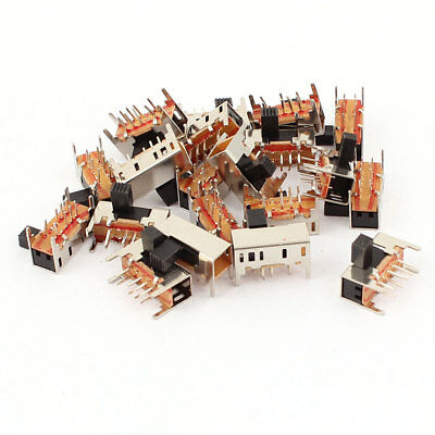 20 Pcs 3 Position 2P3T 8 Pin PCB Panel Mini Right Angle Slide Switch