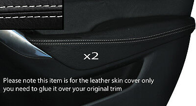 White Stitch 2X Front Door Armrest Leather Skin Cover Fits Mazda 6 2012-2015