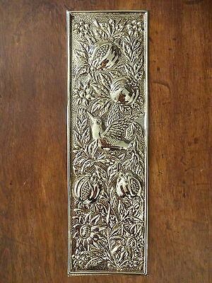 10 X Brass Arts & Crafts Finger Door Push Plates Fingerplate