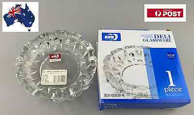 Thick Vintage Glass  Round Shape Ashtray Best Gift Idea Home Decorative