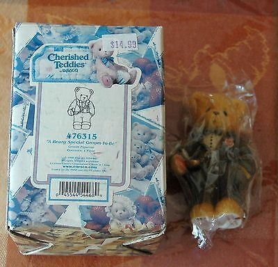 """Cherished Teddies Wedding """"A Very Special Groom To Be"""" - 476315 New In Box"""