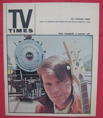 Glen Campbell cover LA TV Times guide MINT COND