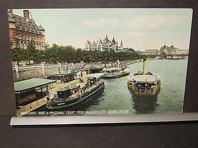 Boat WINIFRED Naval Cover Unused Post Card SCOTLAND YARD & WHITEHALL COURT