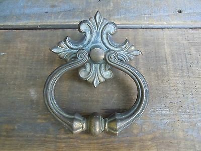 Vintage Brass Large Ornate Heavy DRAWER PULL DOOR PULL?