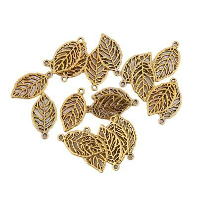 20pcs/Lot Alloy Tree Leaves Pendants Jewelry Making Charms Findings Gold NEW