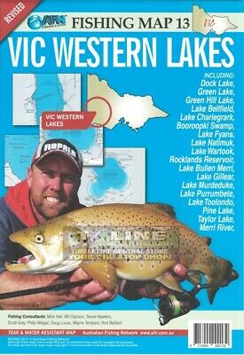 AFN Fishing Maps VIC Western Lakes (Vic) Map 13 Tear & Water Resistant Map
