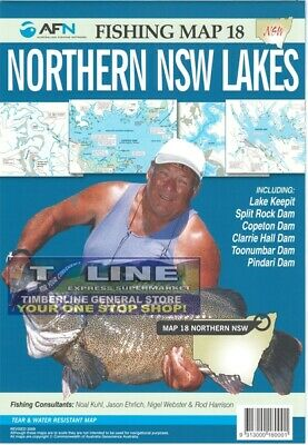AFN Fishing Maps Northern NSW Lakes (NSW) Map 18 Tear & Water Resistant Map