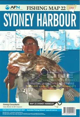 AFN Fishing Maps Sydney Harbour (NSW) Map 22 Tear & Water Resistant Map