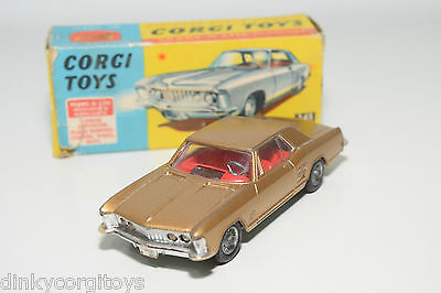Corgi Toys 245 Buick Riviera Metallic Gold Excellent Boxed