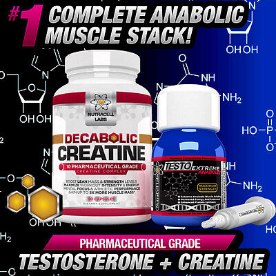 4X Testo Anabolic +Free Decabolic Creatine -Strongest Non Steroids Muscle Boost!