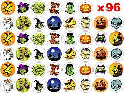 96 x 3cm Edible Halloween Party Pumpkin Fairy Cup Muffin Cake Toppers Decoration
