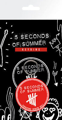 5 Seconds Of Summer - Derping Stamp - Rubber Keyring