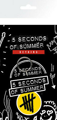 Official 5 Seconds Of Summer - Yellow Logo - Rubber Keyring