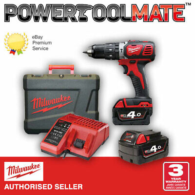 Milwaukee M18BPD-402C 18v combi hammer drill 2x4ah batteries, charger and case