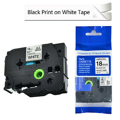 1Pack TZ 241 TZe241 Black on White Label Tape 3/4'' for Brother P-touch PT2030