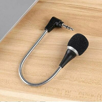 Mini 3.5mm Flexible Microphone Mic for PC Laptop Skype MSN Chat Online Gaming