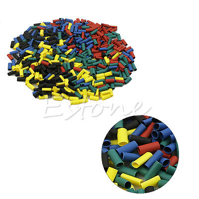 500pcs Polyolefin Heat Shrink Wire Wrap Sleeve Electrical Cable Tube Tubing