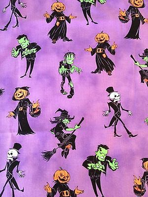 Happy Halloween Monster Handcrafted Pillow Cases 2 Pack Standard Size!