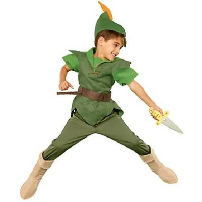 PETER PAN~DELUXE~Costume+Hat+Shirt+Pants+Boot+Bow+Arrows+Dagger~NWT~Disney Store