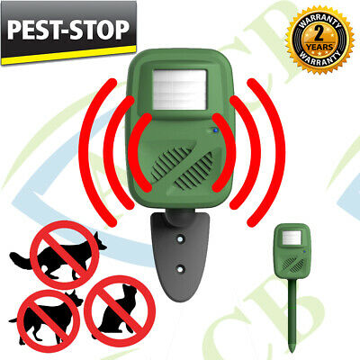 OUTDOOR Mouse Rat Cat FOX Rodent Ultrasonic PIR Sensor PEST REPELLER DETERRENT