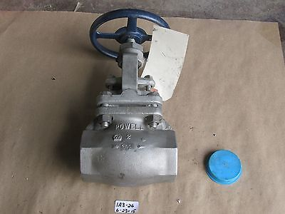 "New Powell 2"" 300 Threaded Globe Valve  Fig. 2446   Cf3M/316L Ss"