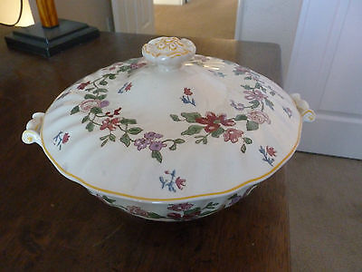 Royal Doulton Round Covered Vegetable Bowl - Wildflower Pattern - D5273