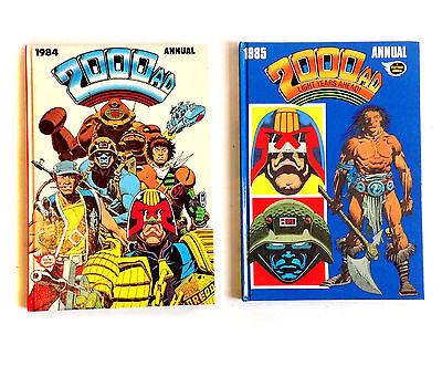 British UK 2000AD annuals 1984 + 85, Dredd, Unmarked & Unclipped, G.Condition
