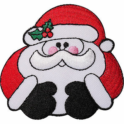 Father Christmas Embroidered Iron / Sew On Patch Santa Decoration Crafts Badge