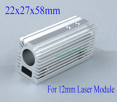 Aluminum Radiator Heatsink 22x27x58mm For 12mm Laser Module With Screws Silver