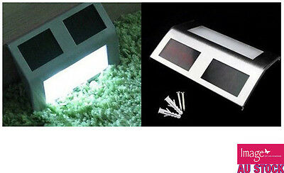 4x Solar Light Powered LED Outdoor Wall Stair Light Wall Lamp Garden SL270