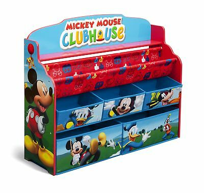 Delta Children Deluxe Book & Toy Organizer, Disney Mickey Mouse, New