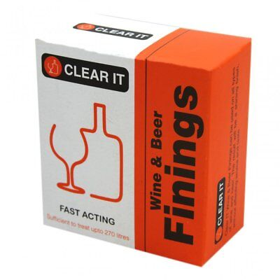 Clear It Wine & Beer Finings Brewing Making Home Brew Treats Up To 270 Litres