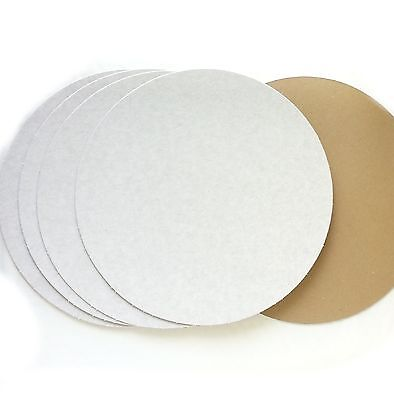 Cake card 5 pizza bases 10 inch 25cm board circle disk rounds badgemaking craft