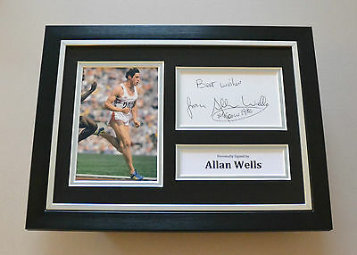Allan Wells Signed A4 Photo Framed Olympics Autograph Display Memorabilia + COA