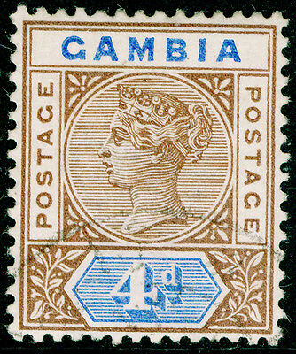 Sg42, 4d brown & blue, VERY FINE used, CDS. Cat £35.