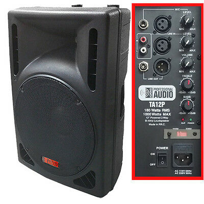 NEW -1000 Watt Powered DJ Speaker - 12-inch - Bi-Amp 2-Way Active Speaker System