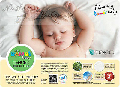 New Bambi Baby Tencil Fibre Cot Pillow 44 x 36 cm Toddler Crib Bedding