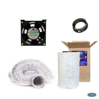 "Ventilation Stealth Combo | Can-Filter GT 100MM x 250MM 59CFM + 4"" UTA Fan"