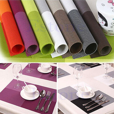 New PVC Insulation Kitchen Placemat Table Decoration Cup Pad Dining Table Mats