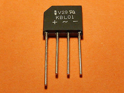 5x BRIDGE RECTIFIER 4AMP 100V INVAC KBL01
