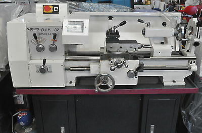38mm Bore Metal Lathe, 240V, 320x600mm 1.5HP Motor with power cross feed