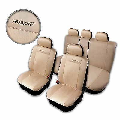 Car Seat Covers Protectors for Nissan Qashqai Beige Front & Rear